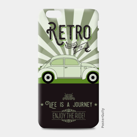 Retro vintage car on green iPhone 6 Plus/6S Plus Cases | Artist : Designerchennai