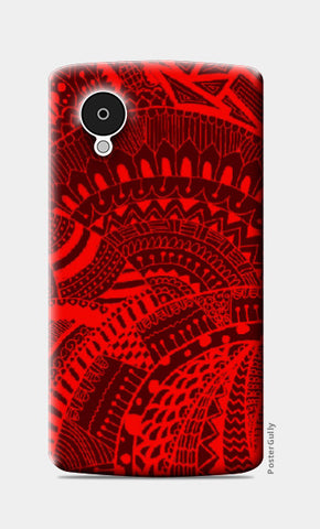 Nexus 5 Cases, Black-red doodle Nexus 5 Case | Artist: Megha-Vohra, - PosterGully