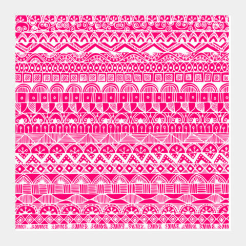 Zentangled Pink Square Art Prints PosterGully Specials