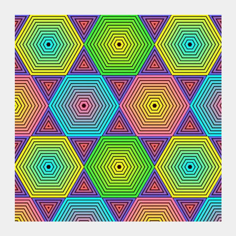 Square Art Prints, Geometric Square Art Prints | Artist : Madhumita Mukherjee, - PosterGully