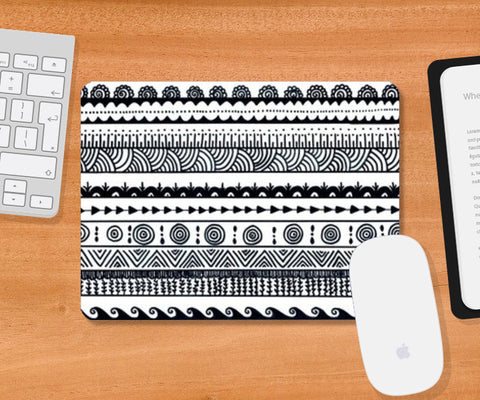 aztec Mousepad | Artist : The Doodler dentist