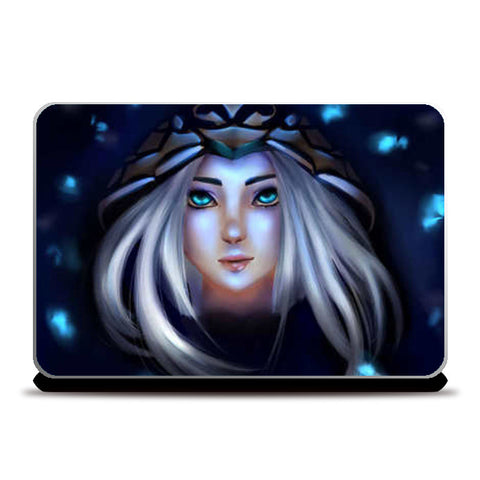 Ashe from league of legends Laptop Skins | Artist : Scribbles