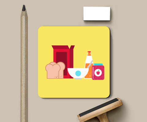 good breakfast is a blessing Coasters | Artist : abhilash kumar