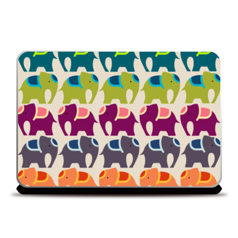 Colourful Elephants  Laptop Skins | Artist : Sriparna Chandra
