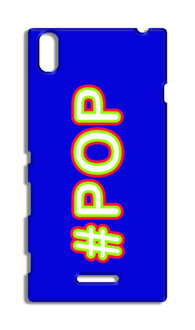 #POP Typography- blue Sony Xperia T3 Cases | Artist : Stuti Bajaj