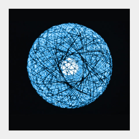 Square Art Prints, Blue Lamp Square Art Prints | Artist : Shashanka Beshra, - PosterGully