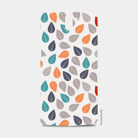 Seamless pattern with multicolored leaf on light background One Plus One Cases | Artist : Designerchennai