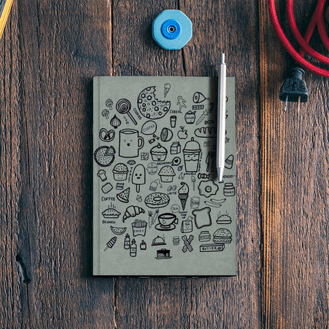 foodies reciepe notepad Notebook | Artist : The Doodler dentist