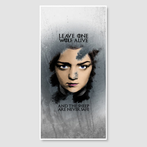 Game of Thrones | Arya Stark | Door Poster | Artist : Vivid Corner