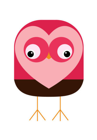 Valentine Owl Illustration Art PosterGully Specials