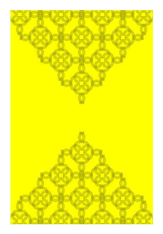 Yellow Embroidery Design Art PosterGully Specials
