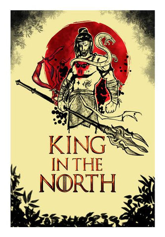 PosterGully Specials, Shiva-king in the north Wall Art | Artist : Abhishek Faujdar, - PosterGully