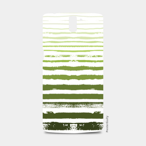 Uneven Green Stripes One Plus One Cases | Artist : Amantrika Saraogi
