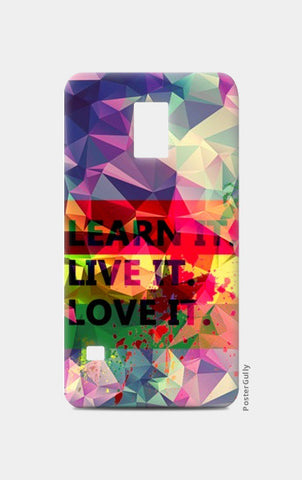 Samsung S5 Cases, Samsung s5 Art Levi's Colorful Pentonix Learnt i Live it Love it Rectangular Samsung S5 Cases | Artist : Mohith Dhyanesh, - PosterGully
