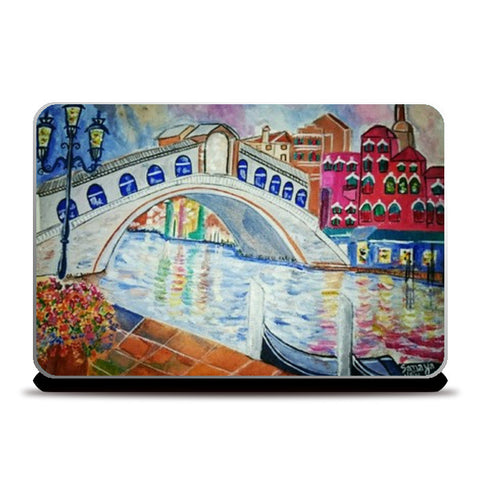 Rialto Bridge-Beautiful Venice  Laptop Skins | Artist : Sanaya Muralia
