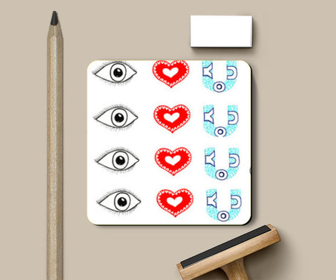 Coasters, Eye love you Coasters | Artist : Amulya Jayapal, - PosterGully
