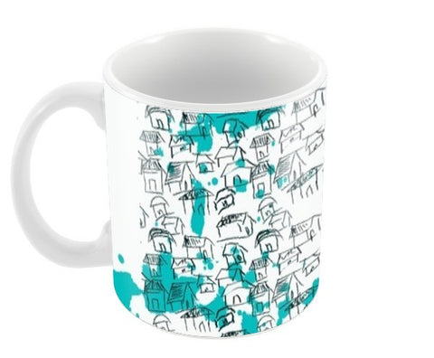little huts Coffee Mugs | Artist : anil kumar mandal