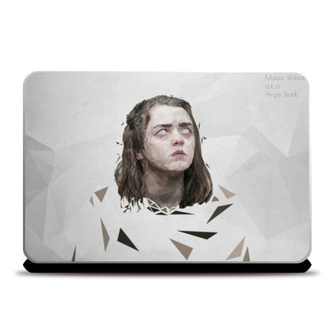 maisie williams aryra stark minimalist polygon art Laptop Skins | Artist : Shantanu Kumar