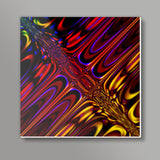 Psychedelic reflections ! Square Metal Prints | Artist : Jessica Maria