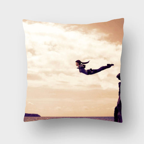Cushion Covers, Swan DIve Cushion Cover | Artist: Rohit Sharma, - PosterGully
