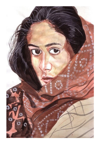 Smita Patil Blended Grace With Glamour Art PosterGully Specials