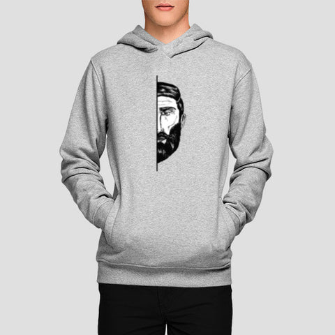 Hoodies, Bearded Hoodies | Artist : Abhishek Faujdar, - PosterGully - 1