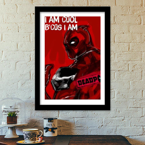 Premium Italian Wooden Frames, Cool Deadpool Premium Italian Wooden Frames | Artist : Draw On Demand, - PosterGully - 1