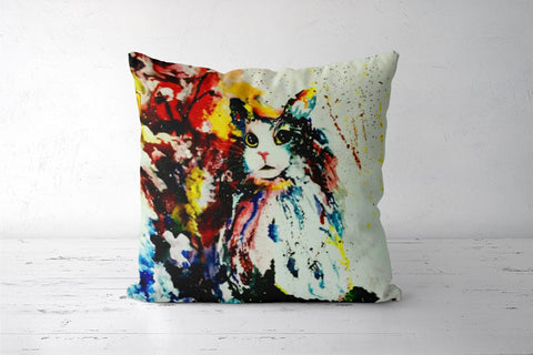 Animal Art : cat Cushion Covers | Artist : Burst of spring