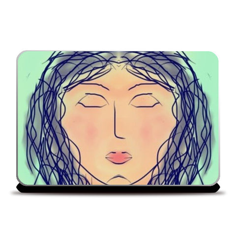 Don't open your eyes till I tell you to Laptop Skins | Artist : Trusha Navalkar