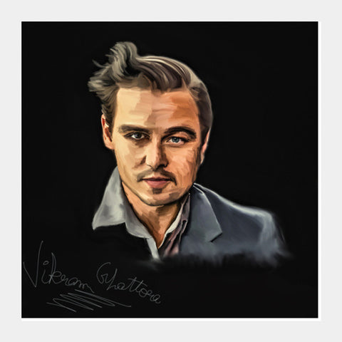 Square Art Prints, Johnny Depp||Leonardo Di Caprio Digital Painting Square Art Prints | Artist : Vikram Ghattora, - PosterGully