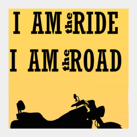 Rider is the Ride is the road Square Art Prints | Artist : Keshava Shukla