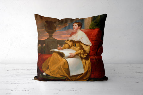Susan Walker Morse (The Muse) by Samuel F. B. Morse Cushion Covers | Artist : Aditya Gupta