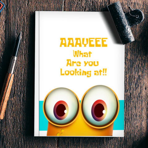 What Are You Looking At!! Notebook | Artist : Pratik Doshi