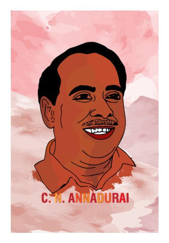 PosterGully Specials, C. N. Annadurai Wall Art | Artist : Designerchennai, - PosterGully