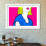 POUT IT OUT Premium Italian Wooden Frames | Artist : DISHA BHANOT
