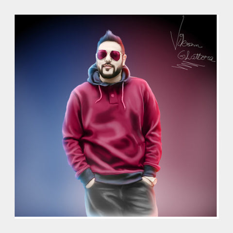 Square Art Prints, Badshah 3D DigiPaint Square Art Prints | Artist : Vikram Ghattora, - PosterGully