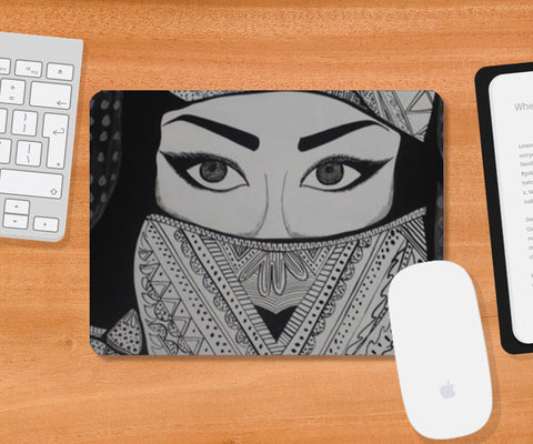 The Girl in Veil Mousepad | Artist : Pranita Bajoria