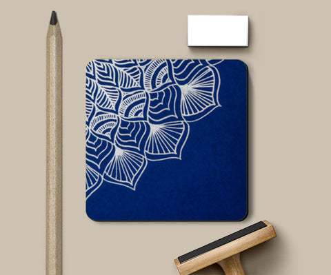 Blue and White Mandala Coasters | Artist : Purvi Gadewar