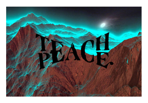 Teach Peace wall art Wall Art  | Artist : Navdeep Sharma