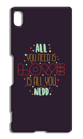 All you need is love is all you need Sony Xperia Z4 Cases | Artist : Designerchennai