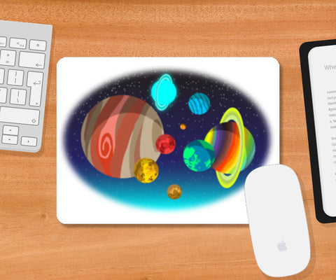 Mousepad, colorful planets Mousepad | Artist : vashu savani, - PosterGully