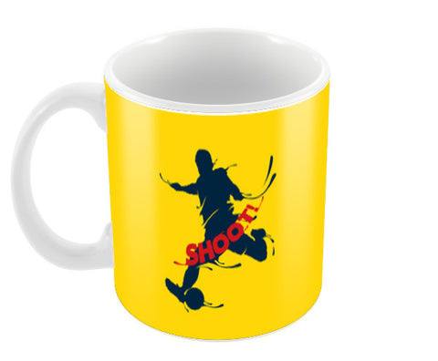 Shoot | #Footballfan Coffee Mugs | Artist : Creative DJ