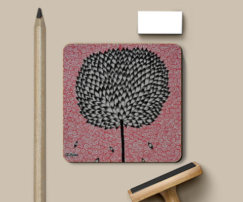 Ink art (The Tree) Coasters | Artist : Ardour Art