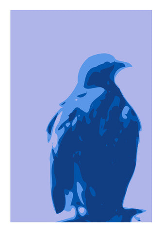 Wall Art, Abstract eagle blue | Artist Keshava Shukla, - PosterGully