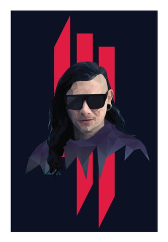 Wall Art, Skrillex Low Poly Wall Art | Artist: Mohak Gulati, - PosterGully