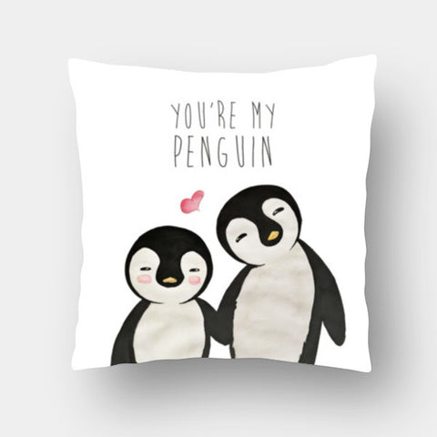 You're My Penguin | Artist: Aparna Singh Cushion Covers | Artist : Aparna Singh