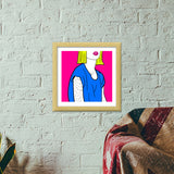 POUT IT OUT Premium Square Italian Wooden Frames | Artist : DISHA BHANOT