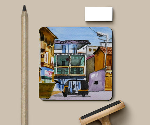 The Empty Street Coasters | Artist : Rahul Tanwar