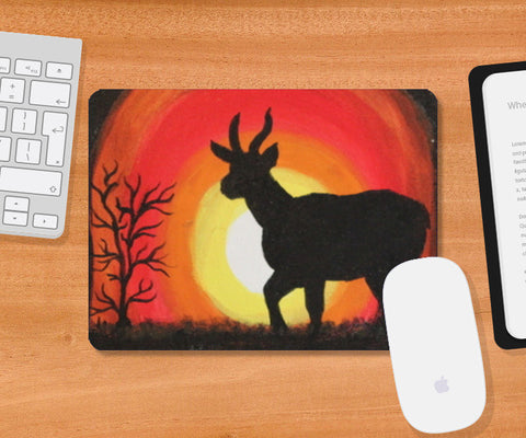 Sunset and Deer Mousepad | Artist : Swathy Suren