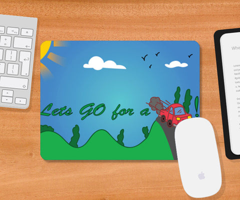 Mousepad, GO ride Mousepad | Artist : Anuj Goyal, - PosterGully